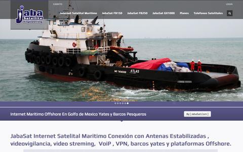 Screenshot of Home Page internet-maritimo.com - [ JabaSat ] Internet Satelital Maritimo Offshore Golfo de mexico - captured Sept. 7, 2015