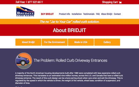 Screenshot of About Page bridjit.com - Bridjit Curb Ramps -  about - captured Oct. 5, 2014