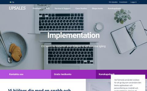 Screenshot of Support Page upsales.com - Komma igång med Upsales | Upsales - captured Nov. 6, 2019
