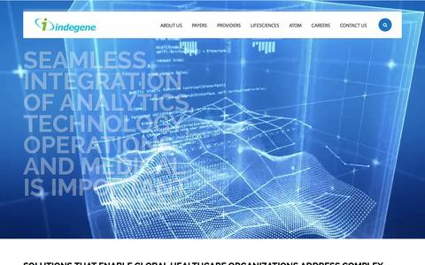 Screenshot of Home Page indegene.com - Indegene | Better outcomes delivered with ATOM - captured Oct. 1, 2015
