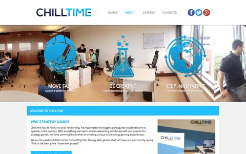 Screenshot of About Page chilltime.com - About Chilltime - captured Sept. 13, 2014