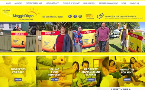 Screenshot of Home Page maggiedixon.co.nz - Maggie Dixon Real Estate Whangarei, houses for sale and rent - captured Nov. 19, 2016