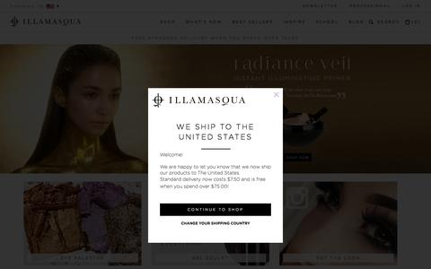 Screenshot of Home Page illamasqua.com - Illamasqua Make-up - Foundation, Lipstick, Contouring, Blusher, Professional makeup - captured Oct. 7, 2015
