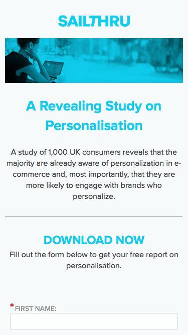 UK Personalisation Report