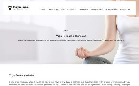 Yoga Retreats, Vacations & Holidays In Rishikesh, India
