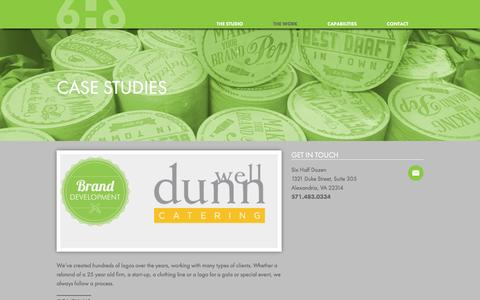 Screenshot of Case Studies Page sixhalfdozen.com - Graphic & Web Design in Alexandria VA: Six Half Dozen Studio -   Case Studies - captured Feb. 24, 2016