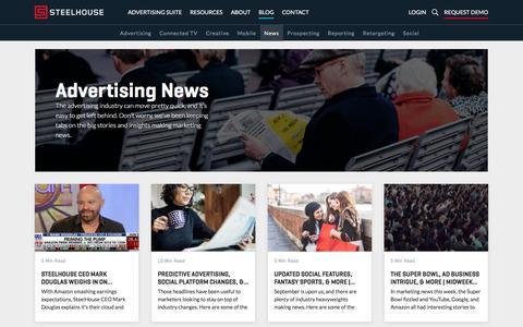 Screenshot of Press Page steelhouse.com - Advertising Industry News & Research - SteelHouse - captured Feb. 18, 2020