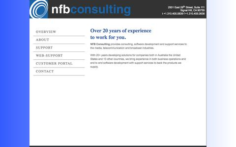 Screenshot of Home Page suitelifesystems.com - NFB Consulting | Home - captured Sept. 30, 2014