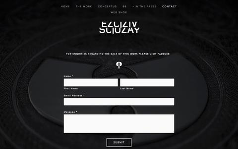 Screenshot of Contact Page scluzay.com - CONTACT Ń - captured Nov. 21, 2015