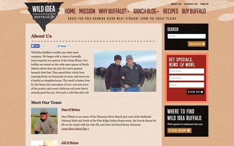 Screenshot of About Page wildideabuffalo.com - About Us | Wild Idea Buffalo - captured Oct. 26, 2014