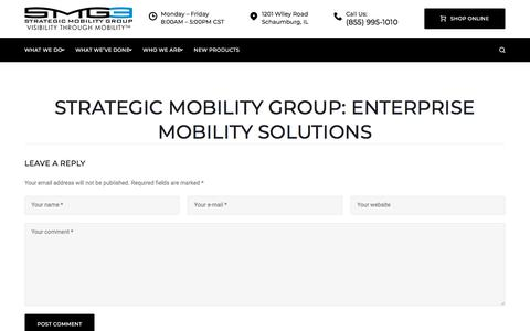 Screenshot of Home Page strategicmobility.com - Strategic Mobility Group – Visibility Through Mobility - captured March 13, 2018