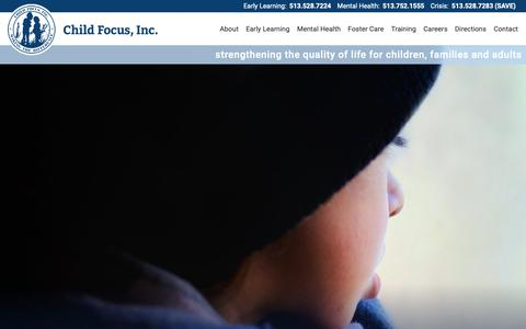Screenshot of Home Page child-focus.org captured Dec. 8, 2018
