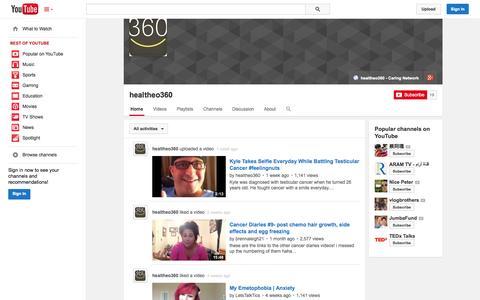 Screenshot of YouTube Page youtube.com - healtheo360  - YouTube - captured Oct. 22, 2014