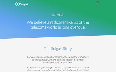Screenshot of Press Page solgari.com - Unified Communications Providers   About Us   Solgari - captured Sept. 30, 2014