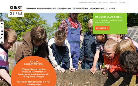 Screenshot of Home Page kunstcentraal.nl - Homepage - Kunst Centraal - captured Jan. 9, 2016