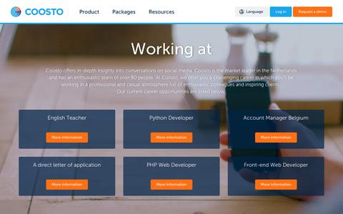 Screenshot of Jobs Page coosto.com - Jobs | Coosto | Coosto - captured Dec. 12, 2015