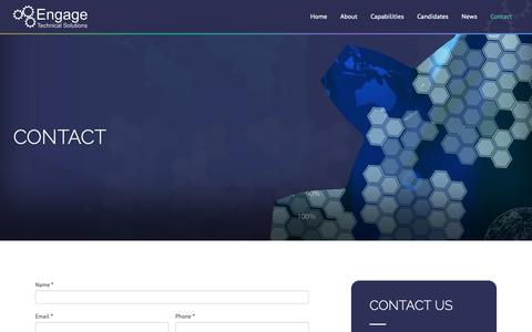 Screenshot of Contact Page engage-ltd.co.uk - Contact | Engage Technical Solutions - captured Dec. 15, 2018