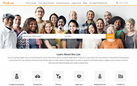 Screenshot of Home Page findlaw.com - Find Laws, Legal Information, and Attorneys - FindLaw - captured Nov. 3, 2017