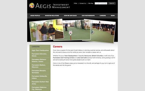 Screenshot of Jobs Page aegisinvestmentmanagement.com - Aegis Investment Management - captured Sept. 30, 2014