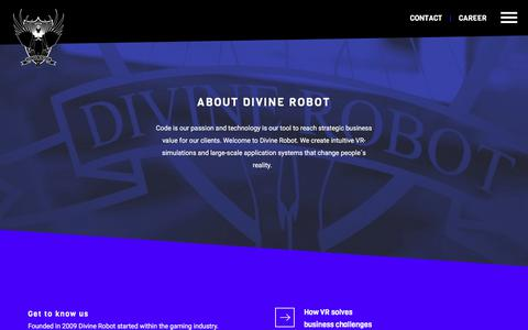 Screenshot of Contact Page divinerobot.com - About Divine Robot | - captured Aug. 7, 2018