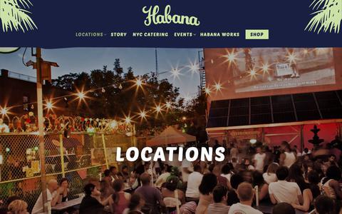 Screenshot of Locations Page cafehabana.com - Locations   Cafe Habana - captured Oct. 21, 2018