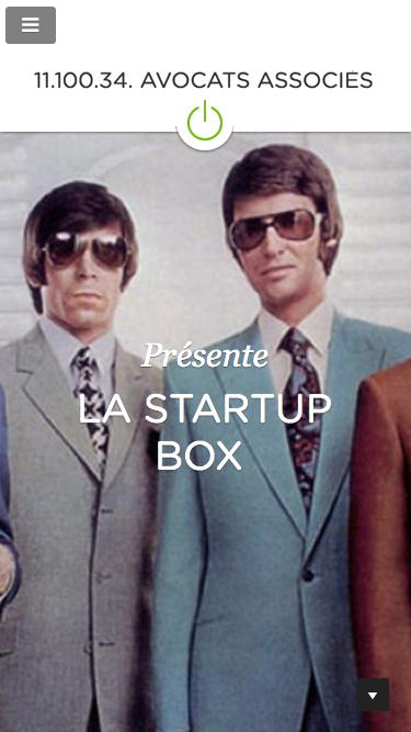 Screenshot of Home Page  startupbox.fr - Startup Box