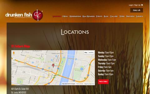 Screenshot of Locations Page drunkenfish.com - Locations - Drunken Fish - captured Oct. 29, 2014
