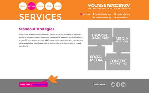 Screenshot of Services Page yapr.com - What PR Strategies Work - captured Oct. 7, 2014