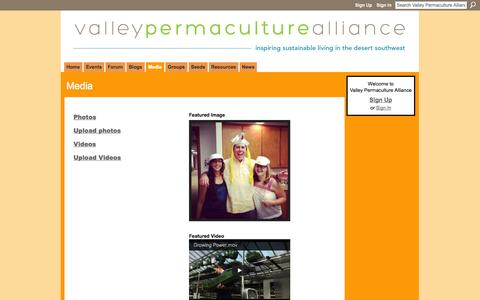 Screenshot of Press Page phoenixpermaculture.org - Media - Valley Permaculture Alliance - captured Sept. 22, 2014