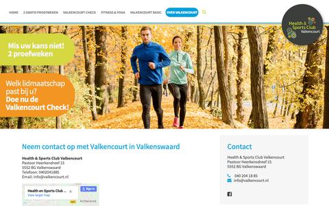 Screenshot of Contact Page valkencourt.nl - Contactgegevens van Valkencourt - captured Nov. 10, 2018