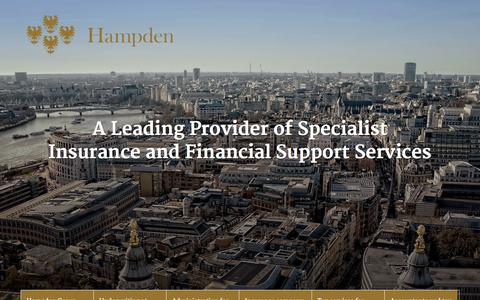Screenshot of Home Page hampden.co.uk - The Hampden Group is a leading provider of specialist business support services to the insurance and finance sectors. - captured Oct. 1, 2014