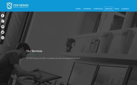 Screenshot of Services Page fswdesign.com - Our Services | FSW Design Limited - captured Nov. 24, 2016
