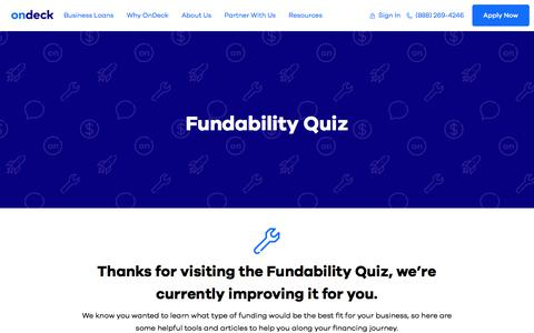 What Financing Will You Qualify For? | The OnDeck Fundability Quiz