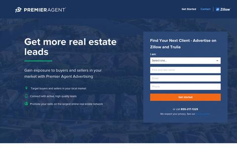 Screenshot of Contact Page zillow.com - Premier Agent Advertising - Contact Us - captured Dec. 24, 2016