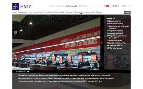 Screenshot of Services Page hmy-group.com - HMY - Services - captured Jan. 22, 2016