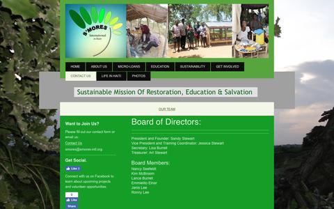 Screenshot of Team Page smores-intl.org - SMORES International - Our Team - captured April 8, 2017