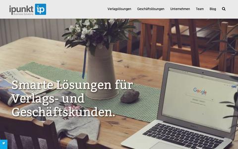 Screenshot of Home Page ipunkt.biz - Lösungen für Industrie und Verlage - ipunkt Business Solutions - captured Oct. 13, 2018