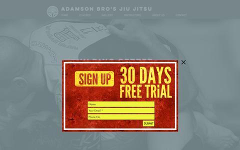 Screenshot of Home Page orbjj.com - Martial Arts | United States | Adamson Bros Jiu Jitsu Academy - captured Oct. 18, 2018