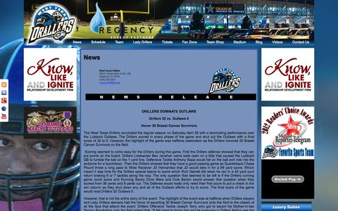 Screenshot of Press Page wtdrillers.net - News   West Texas Drillers - captured Oct. 26, 2014