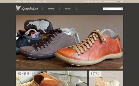 Screenshot of Home Page aguapatagona.com - Agua Patagona - captured Oct. 4, 2014