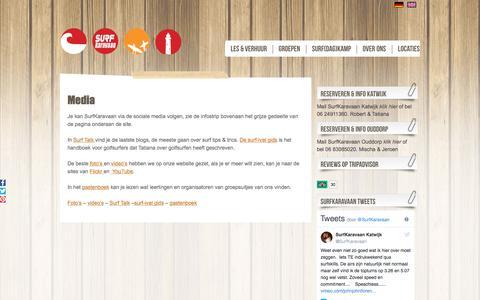 Screenshot of Press Page surfkaravaan.nl - Media | - captured Sept. 21, 2018