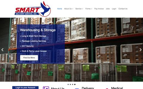 Screenshot of Home Page delivery-service.com - Courier Service in Dallas and Minneapolis-Smart Delivery - captured Oct. 26, 2017