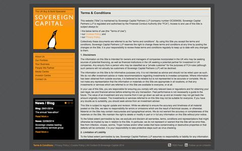Screenshot of Terms Page sovereigncapital.co.uk - Terms & Conditions - Sovereign Capital - captured Oct. 9, 2014