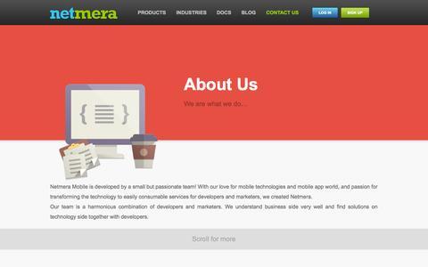 Screenshot of About Page netmera.com - Netmera // About Us - captured Oct. 26, 2014