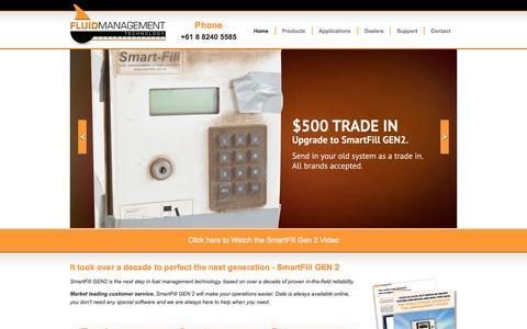 Screenshot of Home Page fluidmt.com - Fluid Management Technology - captured Oct. 6, 2014
