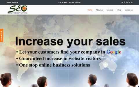 Screenshot of Home Page outsource-seo-philippines.com - Outsource SEO Philippines - Expert Digital Marketing Company in the Philippines - captured Dec. 3, 2016