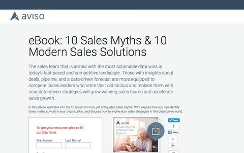 eBook: 10 Sales Myths & 10 Modern Sales Solutions | Aviso
