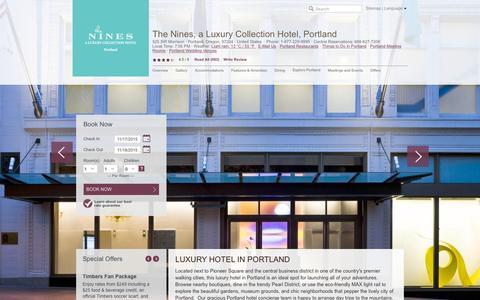 Screenshot of Home Page thenines.com - Luxury Hotel in Portland   the Nines, Portland Hotel - captured Nov. 17, 2015