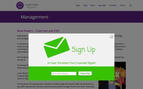 Screenshot of Team Page cupcakedigital.com - Cupcake Management - captured Feb. 1, 2016
