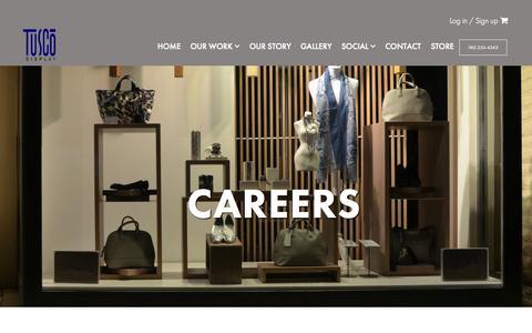 Screenshot of Jobs Page tuscodisplay.com - Careers - Tusco Display - captured Aug. 12, 2015